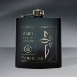 Agent Badge Flask