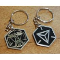 Ingress Founders Keychain