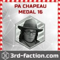 NEW P.A. Chapeau Badge