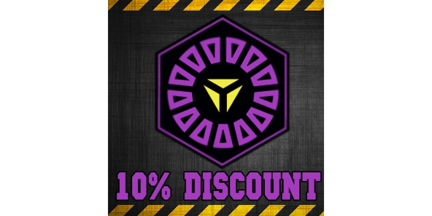 10% discount for XM Anomaly Obsidian (for all items)