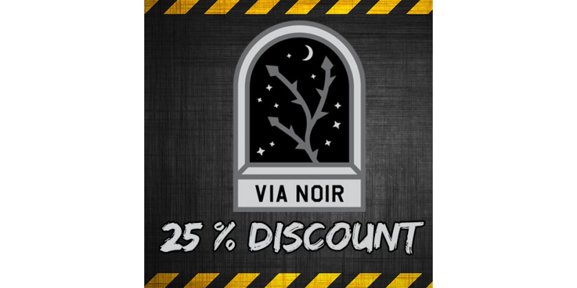 25% discount for XM Anomaly VIA NOIR (for all items)