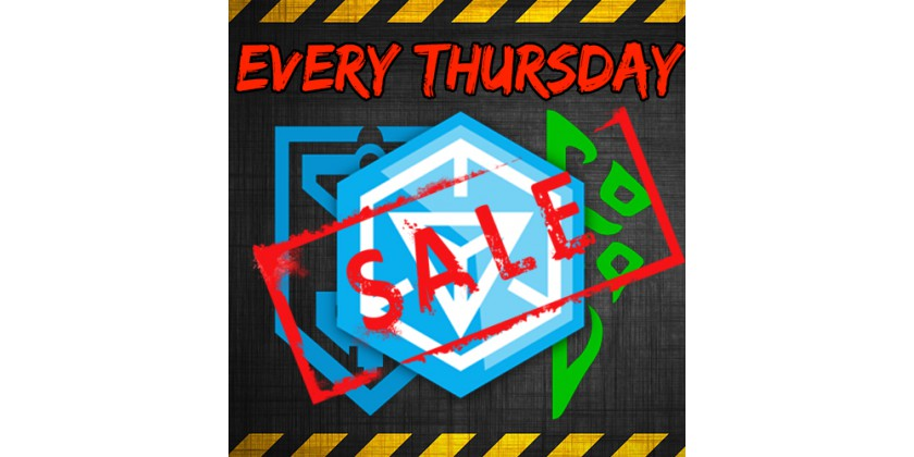 Weapons (XMP, US, PC) with 10% discount every Thursday!
