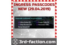 NEW 2019 Passcodes for free items from Ingress Shop 3RD-FACTION