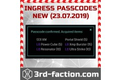 TOP 100 Passcodes for free items from Ingress Shop 3RD-FACTION